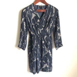 Banana Republic Long Sleeve Faux Wrap Floral Dress